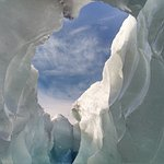 Inside the ice cave -- spring melt