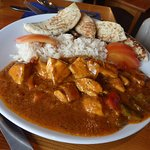 Lovely chicken curry bar meal