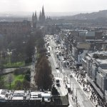 Views atop the Scott Monument