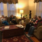 Knitting in the parlor