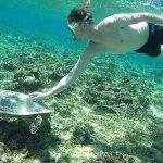 Snorkeling next to Mahamaya