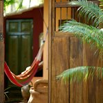 A antique Nicaraguan door welcomes you to the Villa Suite.