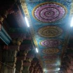 Architectural marvel - Long corridor with colourful painings on the ceiling