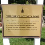Rules for Children's pool. Well-run facility!