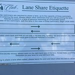 Rules for sharing lanes - sign of a well-run facility!