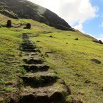 Steps are narrow and some are steep.