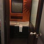 Super Cramp Bathroom. No Standing Shower.