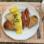 Fresh herbed cheese omelet - delicious!
