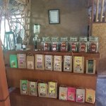 the collection of teas and coffees that u can buy