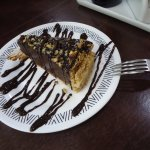 Sobremesa: Torta de cacau com nozes
