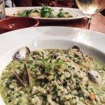 seafood and pesto risotto