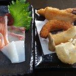 sashimi and tempura selection
