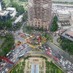 Traffic jam from above