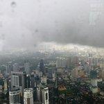 Stormy weather over Kuala Lumpur