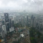 Rain storm from the top of the towers