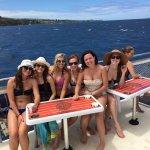 Rented Catamaran for wedding guests! SO FUN!