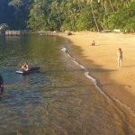 Praia em Frente a Pousada Maria Bonita.