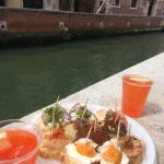 Cicchetti and Spritz by the canal