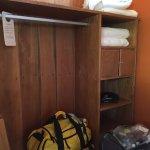 Storage/closet area in eco-chic suite #7