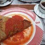 Deliciosa crepa con chorizo copetin