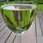 Wine glass of flat prosecco
