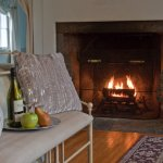 The Madison Getaway guest room has a fireplace.  Great all winter long and on cool spring nights