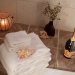 The Town View guest room has a  jacuzzi tub w/ rain shower.  Perfect way to end a day of explori