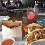 Fish Tacos and great HOT salsa