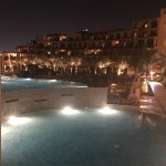view of from the hotel at night from the adult pool