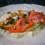 chicken fajita wrap, one of our healthy choices