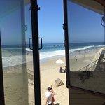 The view through the open windows