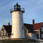 Nobska Light and Lightkeepers House in daytime