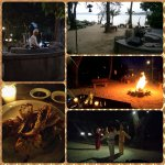 BBQ dinner with performance on beach