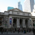 New York public library. March 2017.