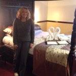 We had our own 'throne'! And swans on the bed were a nice touch.