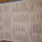 Menus/decor/calamari/chocolate cake