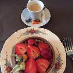 Crumble rhubarbe fraises