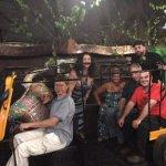 Take a pic in the Rickshaw at The Tandoor.