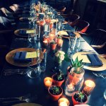 Custom tablescape in The Library