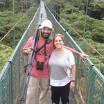 Hanging bridges with guide