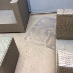 Patio carpet and chairs, we could not use