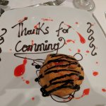 A parting gift of fried icecream from Ann-Marie at the Gala buffet