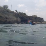 Snorkeling in front of hotel