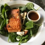 I ordered the salmon salad with the ginger dressing. OMG! Delightful! Always love coming here fo