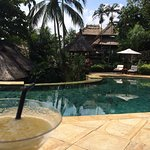 Mango daiquiri and an amazing pool