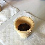 Chocolate Orange Wine served in tiny ice cream cones. Amazing!