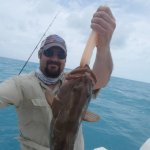 grouper that we threw back, because they were not in season yet.
