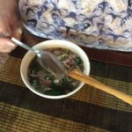 4th course Pho Bo Ha Noi, rice noodle soup with beef
