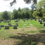 Newer burial site on the slop
