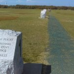 marker boulders where flights landed